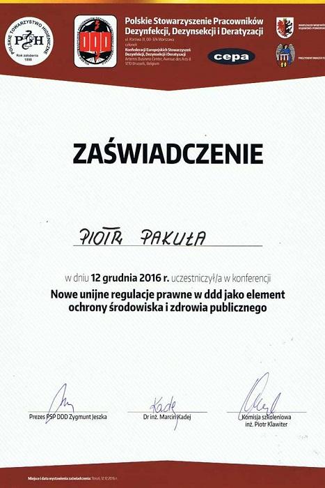 Certyfikat02 - Nowe unijne regulacje prawne w ddd jako element ochrony środowiska i zdrowia publicznego