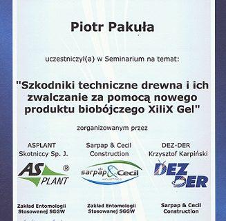 Szkodniki techniczne drewna i ich zwalczanie za pomocą produktu biobójczego XiliX Gel