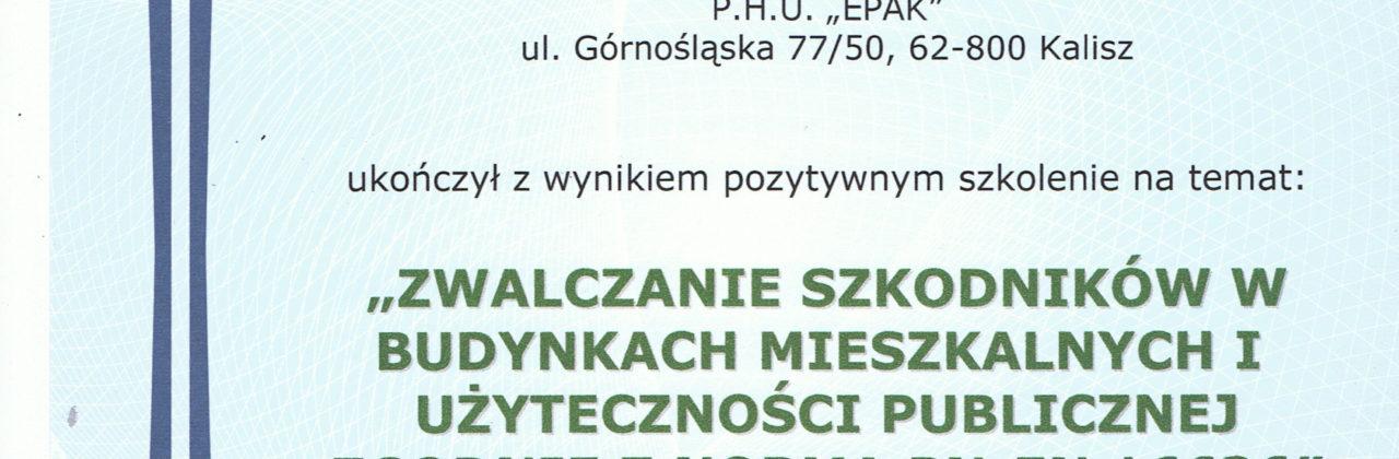 """""""ZWALCZANIE SZKODNIKÓW W BUDYNKACH MIESZKALNYCH I UŻYTECZNOŚCI PUBLICZNEJ ZGODNIE Z NORMĄ PN-EN 16636"""""""