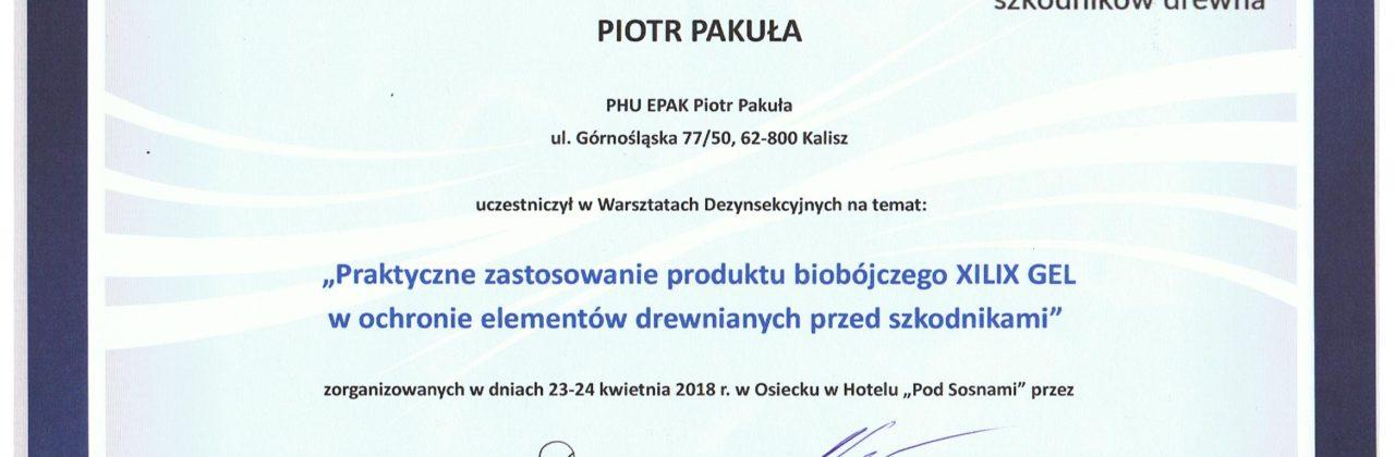 """""""Praktyczne zastosowanie produktu biobójczego XILIX GEL w ochronie ewlemntów drewnianych przed szkodnikami"""""""