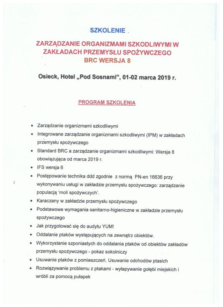 2 745x1024 - Zarządzanie organizmami szkodliwymi w zakładach przemysłu spożywczego-BRC wersja 8