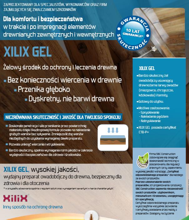 Xilix gel ulotka - Xilix gel - skuteczny sposób na szkodniki drewna
