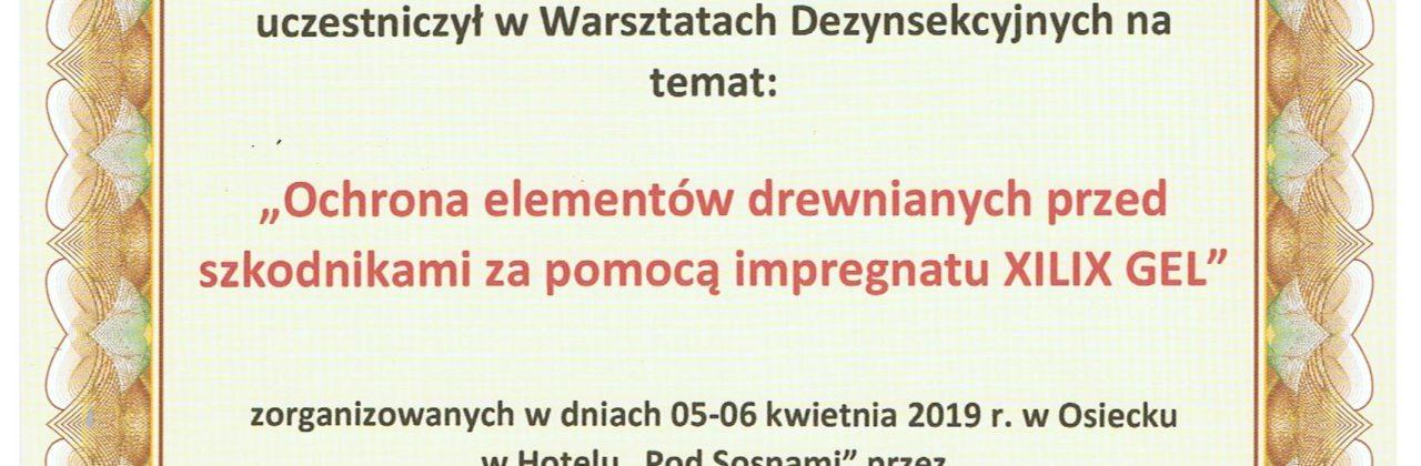 """Ochrona elementów drewnianych przed szkodnikami za pomocą impregnatu """"XILIX GEL"""""""