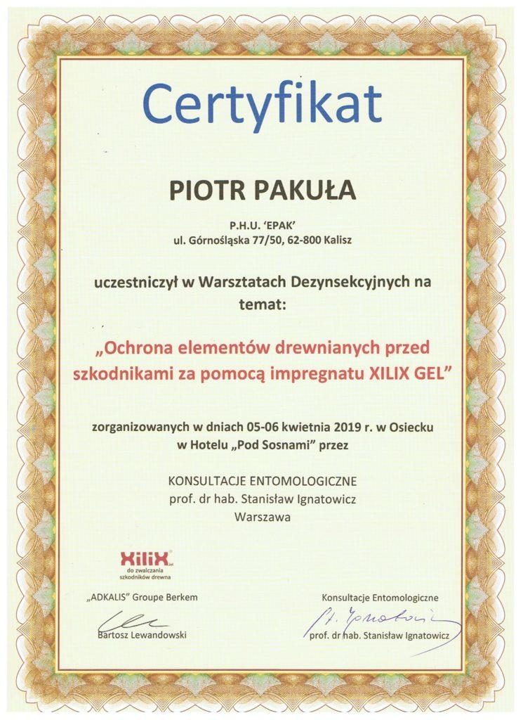 """cERTYFIKAT 1 745x1024 - Ochrona elementów drewnianych przed szkodnikami za pomocą impregnatu """"XILIX GEL"""""""