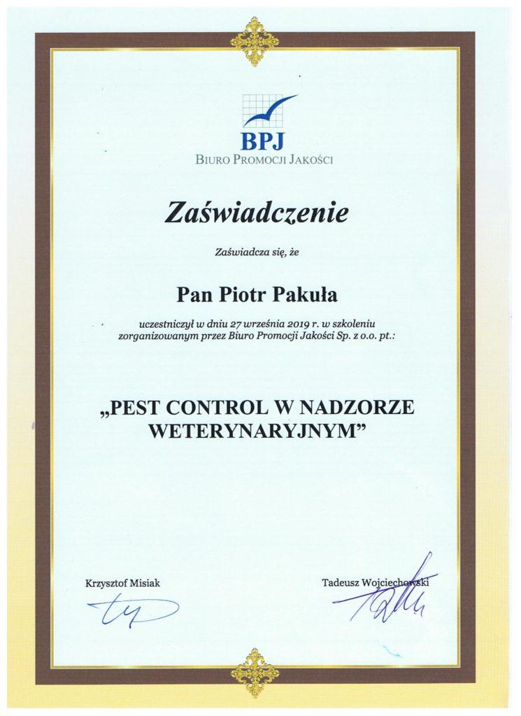certyfikat 745x1024 1 - PEST CONTROL W NADZORZE WETERYNARYJNYM